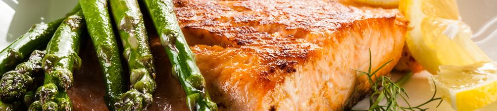 Lemon Crusted Salmon and Asparagus