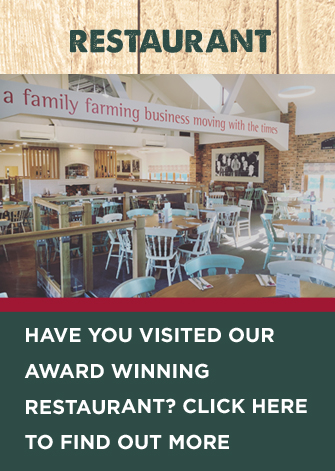 Love our farm shop? Have you visited our award-winning restaurant?