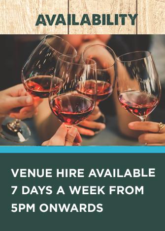 private hire venue availability