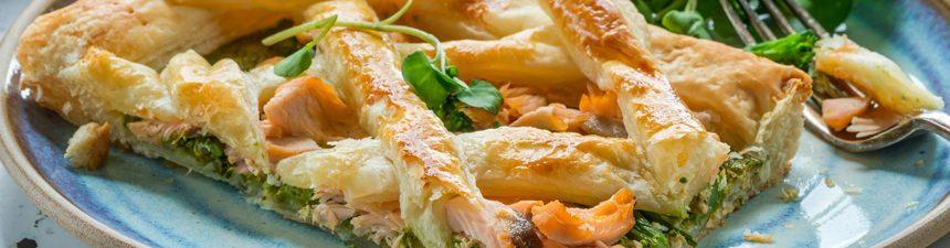 Salmon and Broccoli Lattice Tart