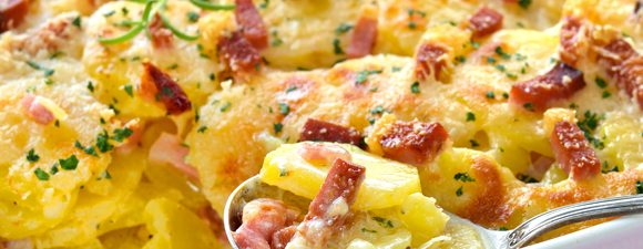 Leek, Potato and Bacon Bake