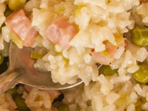 Oven Baked Leek and Bacon Risotto