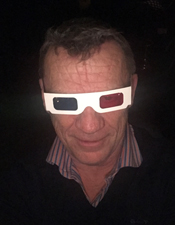 Simon wearing 3D glasses