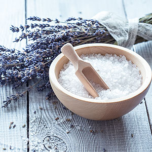 Lavender Bath Salts in Bowl