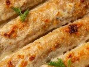 Cheese, Ham and Leek Pancakes