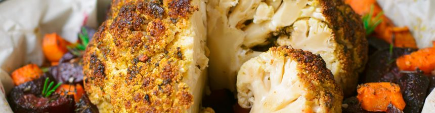 Roast Cauliflower with Root Vegetables and Sage