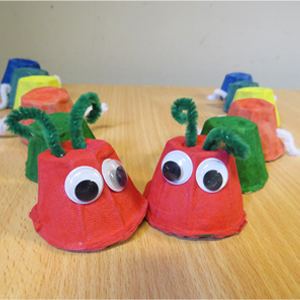 caterpillar egg cups