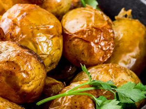 Garlic Roasted Cornish Potatoes