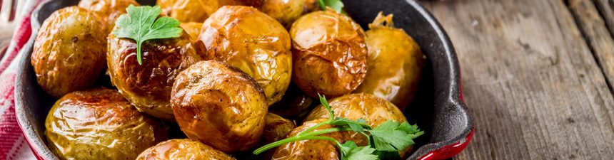 Garlic Roasted Cornish Potatoes