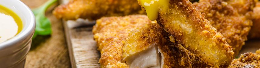 Crispy Chicken with Honey Mustard Dip