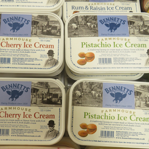 New products - Bennetts ice cream tubs