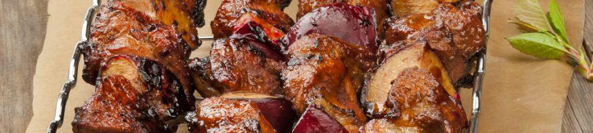 Pork and Plum Kebab Skewers