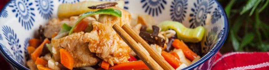 Crispy Chicken and Winter Veg Stir Fry