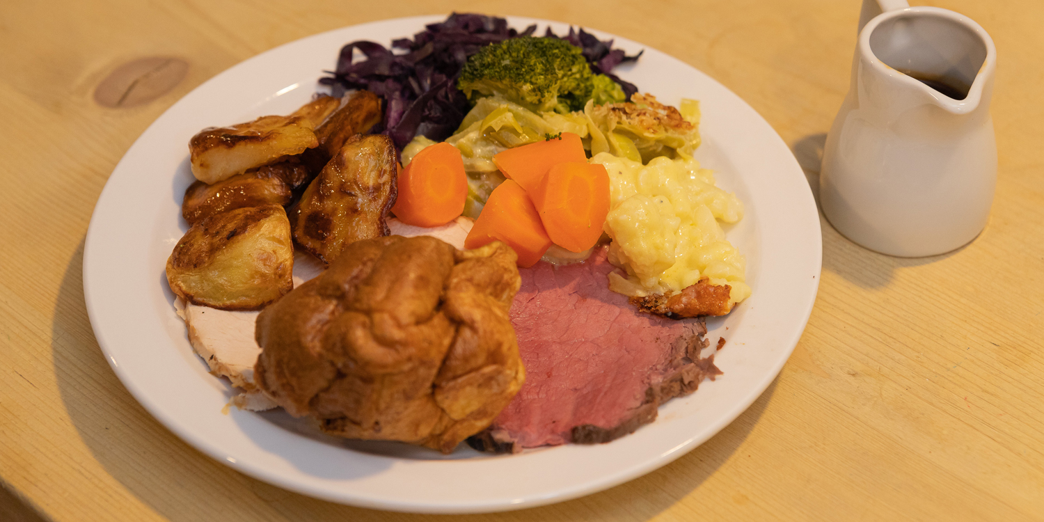 plated carvery dinner