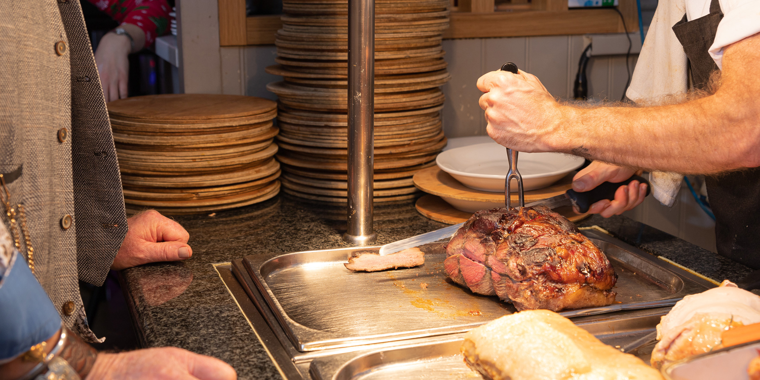 carvery meats being carved