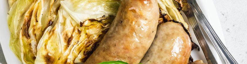 Glazed Chicken Sausage & Sauteed Cabbage