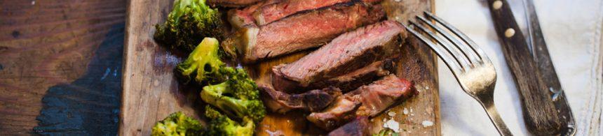 Pan Roasted Steak with Crispy Garlic Broccoli