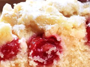 Cherry with a hint of Cinnamon Sponge Cake