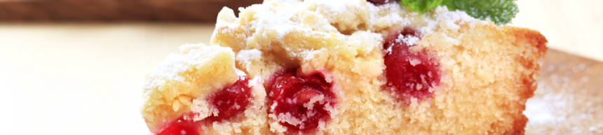 Cherry with a hint of Cinnamon Sponge Cake