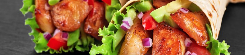 Spicy Chicken and Avocado Wraps