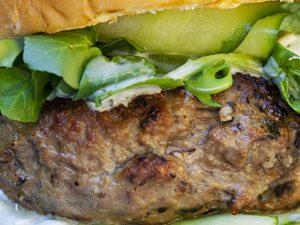 Lamb Burger with Tzatziki