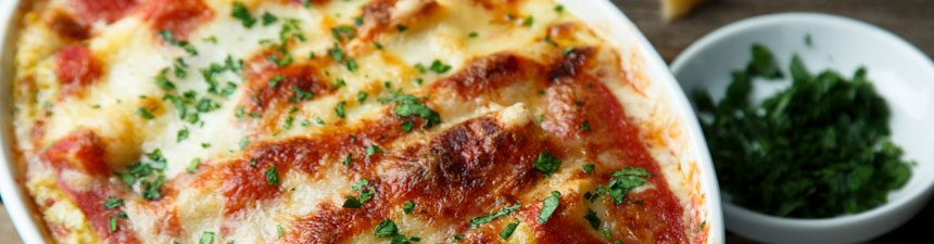 Sausage Ragu and Spinach Pasta Bake