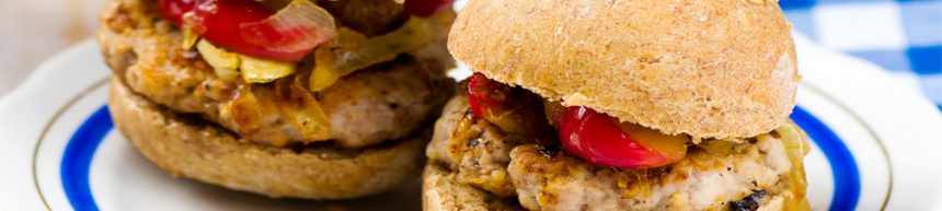 Pork and Apple Burgers