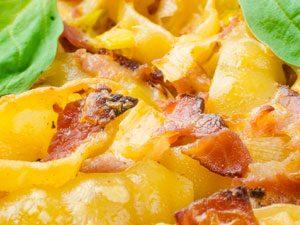 Cheesy Leek and Bacon pasta