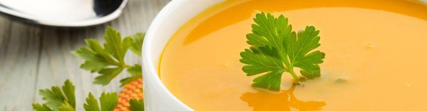 Carrot and sweet potato soup
