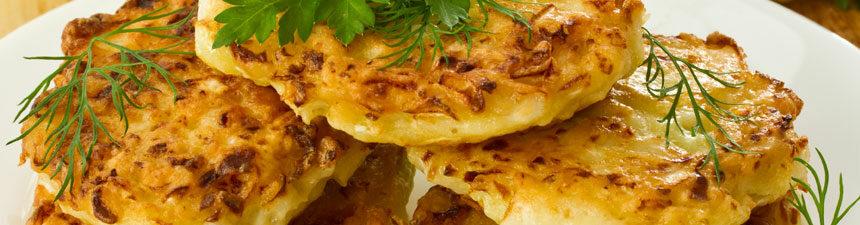 Cheesy Cauliflower Fritters