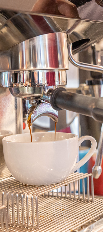 coffee shop espresso being made