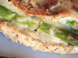 Asparagus and Mozzarella Stuffed Chicken